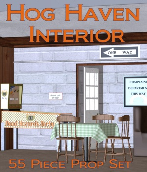 Hog Haven INTERIOR 3D Models DivabugDesigns