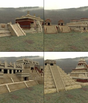 Mayan City Buildings Set (for DAZ Studio) 3D Models VanishingPoint