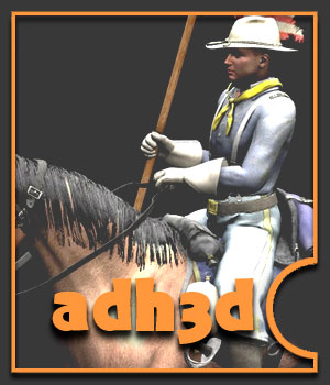 US Cavalry pack - Extended License 3D Models 3D Figure Assets Extended Licenses adh3d