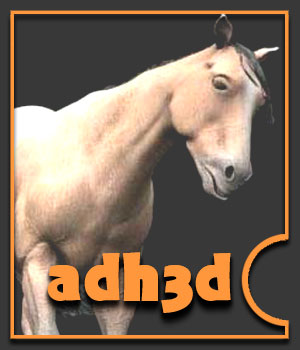 adHorse: A new horse figure for Poser - Extended License 3D Models Extended Licenses adh3d