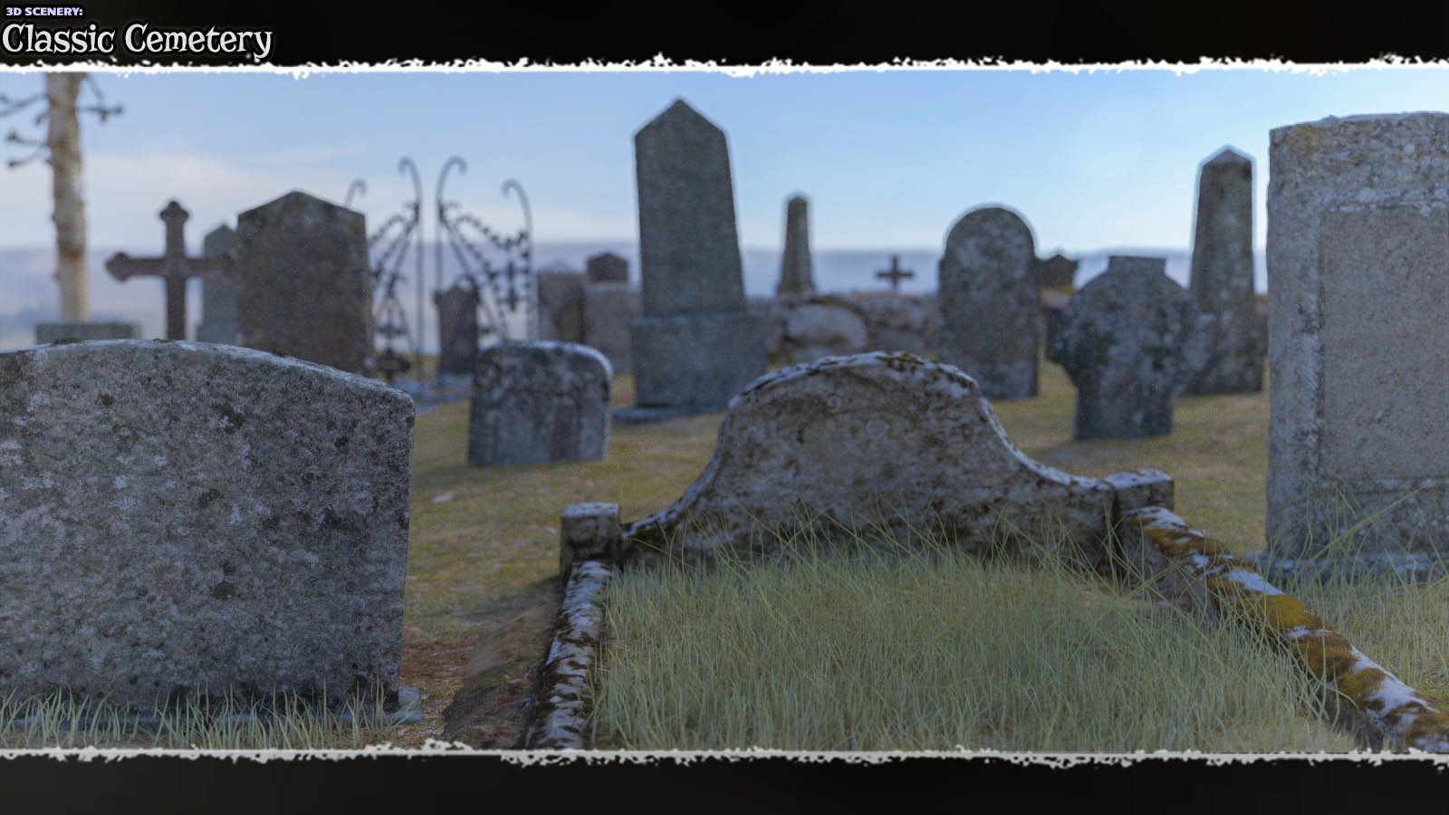 3D Scenery: Classic Cemetery  by ShaaraMuse3D