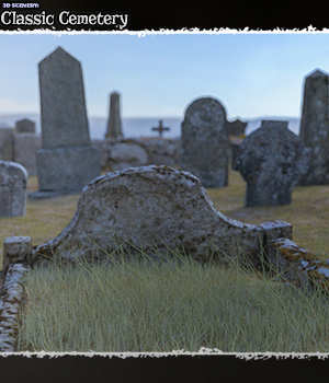 3D Scenery: Classic Cemetery  3D Models ShaaraMuse3D