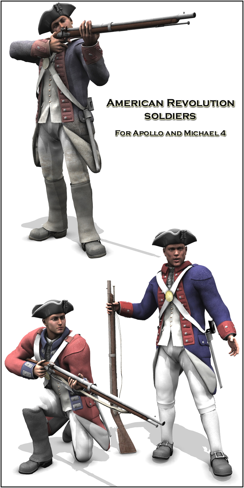American Revolution soldiers - Extended License
