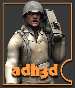 WW2 US GI - Extended License 3D Models 3D Figure Essentials Gaming Extended Licenses adh3d