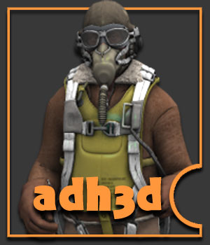 WW2 USAAF pilot pack - Extended License 3D Models 3D Figure Essentials Gaming Extended Licenses adh3d