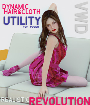VWD Cloth And Hair Lite 3D Software : Poser : Daz Studio : iClone VirtualWorldDynamics