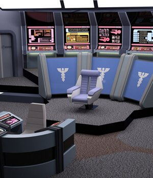Starship Bridge 12 (for DAZ Studio) by VanishingPoint
