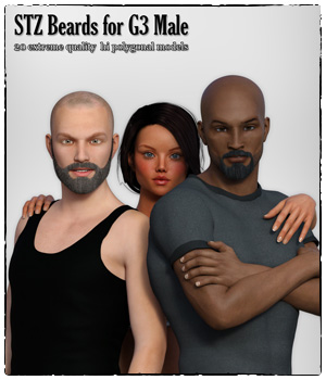 STZ Beards for G3 Male 3D Figure Essentials santuziy78