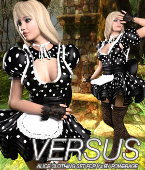 VERSUS for Alice Clothing Set V4 3D Figure Essentials Anagord