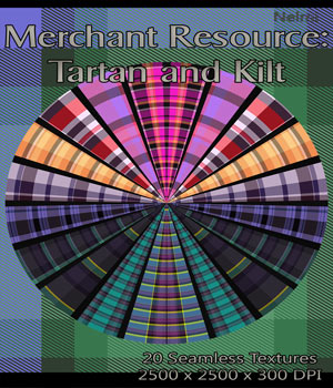 Merchant Resource: 20 Tartan and Kilt Textures 2D Graphics Merchant Resources nelmi