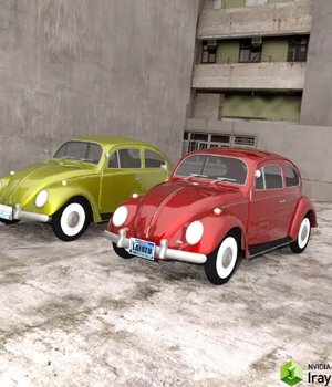Volkswagen Beetle for DAZ Studio 3D Models Digimation_ModelBank