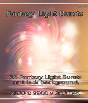 15 Fantasy Light Bursts 2D nelmi