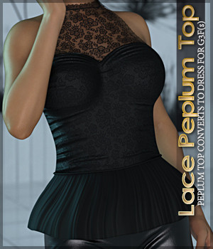 Lace Peplum Top G3F(s) 3D Figure Essentials Sveva