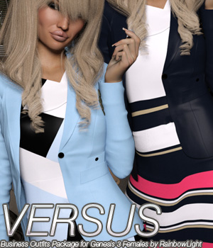 VERSUS - Business Outfits Package for Genesis 3 Females 3D Figure Essentials Anagord