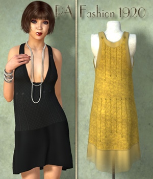 RA Fashion 1920 3D Figure Assets RAGraphicDesign