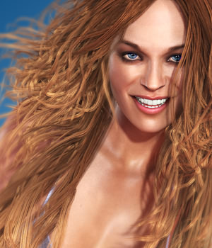 SAV Good Ol Girls Hair 3D Figure Assets StudioArtVartanian