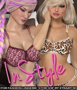 InStyle:#BeFancy - Fashion Lingerie 3 for G3F 3D Figure Essentials -Valkyrie-
