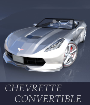 Chevrette Convertible 3D Models TruForm