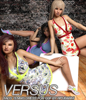 VERSUS - Fads Tennis Dress for Genesis 3 3D Figure Essentials Anagord
