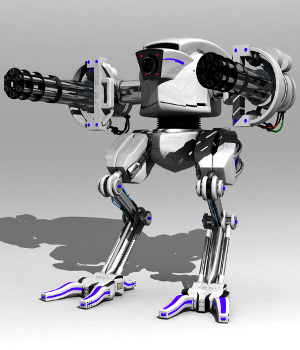 Robot Ranger Model 3D 3D Models Gaming Extended Licenses DanteStormdark