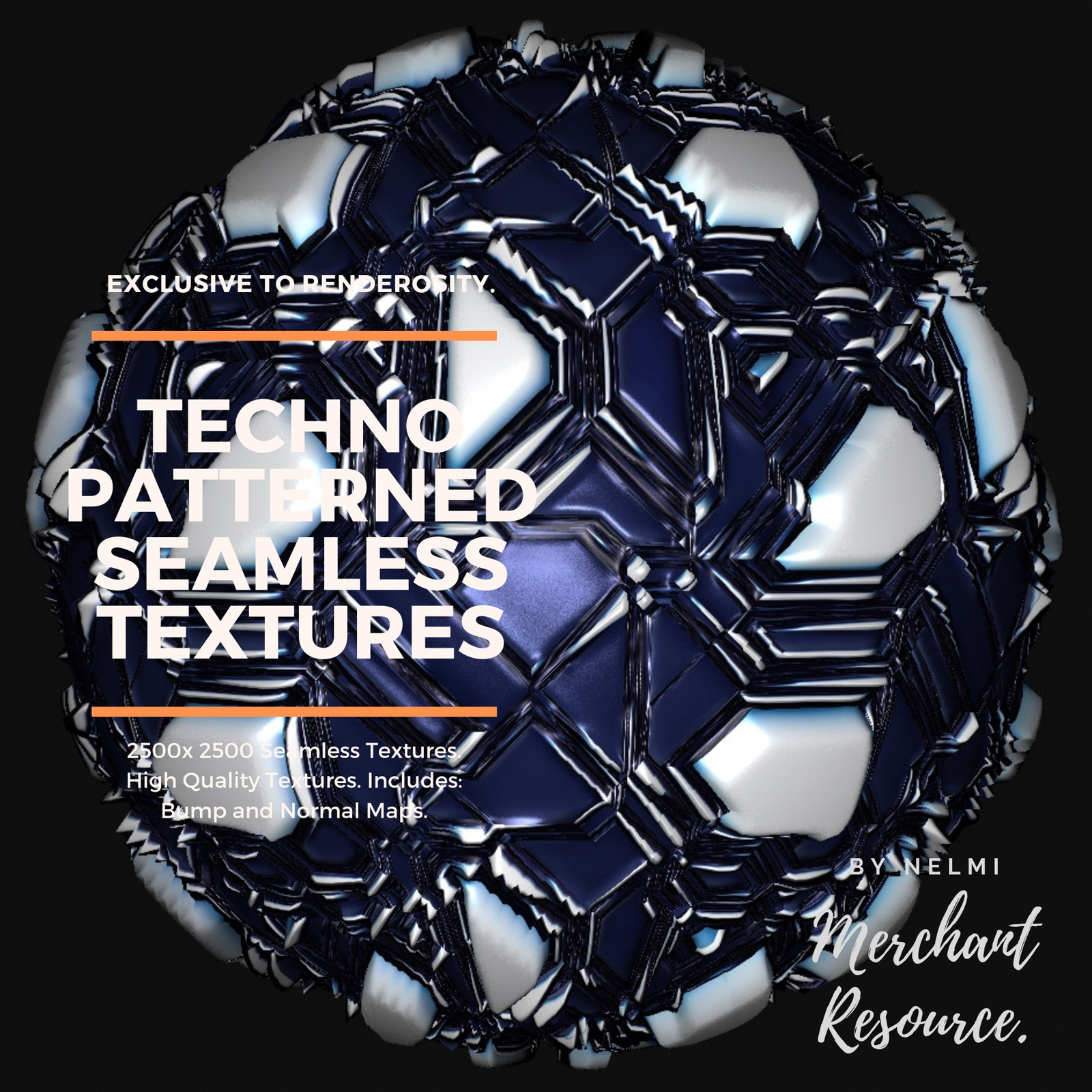 13 Seamless Techno Robot Textures with Texture Maps