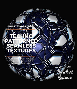13 Seamless Techno Robot Textures with Texture Maps 2D nelmi