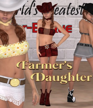 Farmer's Daughter 3D Figure Assets JudibugDesigns