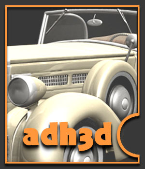 Convertible car 1936 - Extended License 3D Models Gaming Extended Licenses adh3d