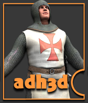 Templar Knight - Extended License 3D Models 3D Figure Assets Extended Licenses adh3d