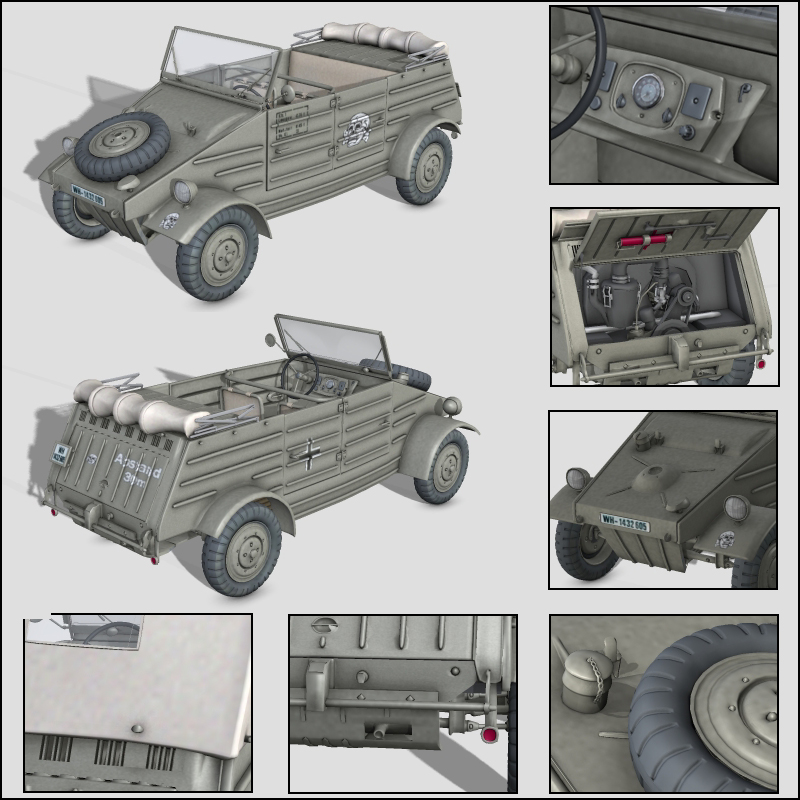 WW2 Kubelwagen 82 - Extended License