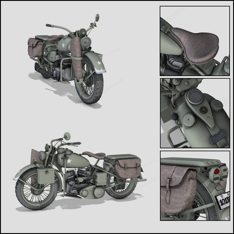 WW2 USA WLA MOTORCYCLE - Extended License