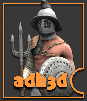 Roman Gladiator pack - Extended License 3D Models 3D Figure Essentials Extended Licenses adh3d