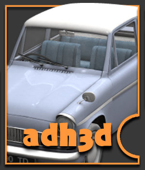Anglia 105s  car - Extended License 3D Models Extended Licenses adh3d