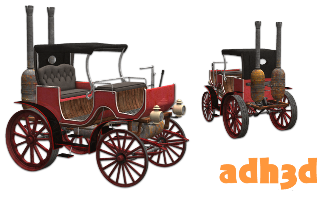 Steampunk carriage - Extended License