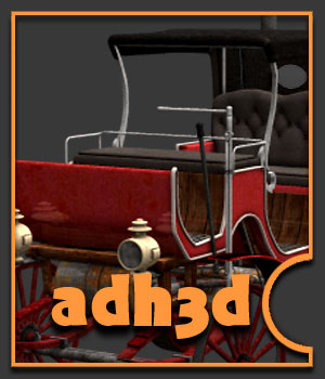 Steampunk carriage - Extended License - Gaming - adh3d
