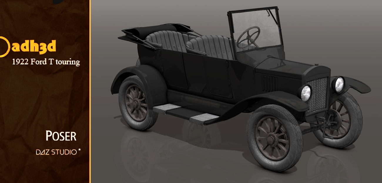 1922 Ford T touring - Extended License by adh3d