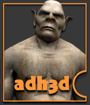Orc for adman - Extended License 3D Figure Essentials Gaming Extended Licenses adh3d