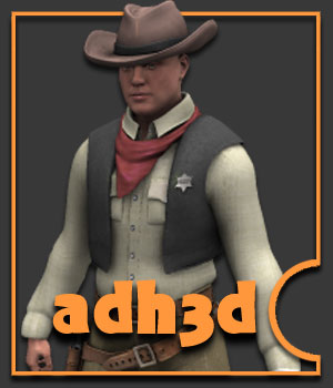 Western Pack for APollo - Extended License 3D Figure Assets Extended Licenses adh3d