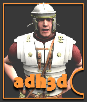 Roman Legionary - Extended License 3D Figure Essentials Gaming Extended Licenses adh3d