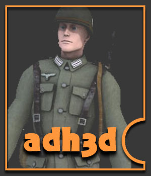 WW2 German Infantry M3 - Extended License 3D Models 3D Figure Essentials Gaming Extended Licenses adh3d
