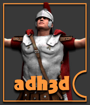 Roman Officer - Extended License 3D Models 3D Figure Essentials Extended Licenses adh3d