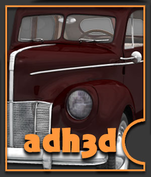 1940 Ford Sedan 2 doors - Extended License 3D Models Gaming Extended Licenses adh3d