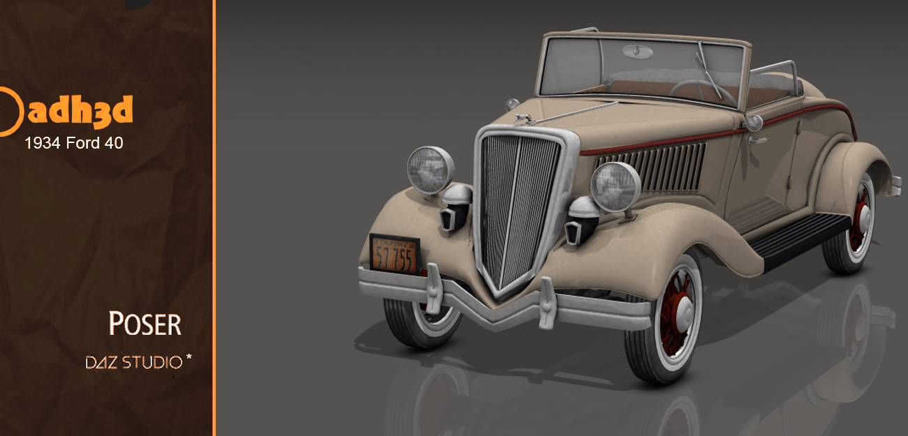 1934 Ford 40 - Extended License by adh3d