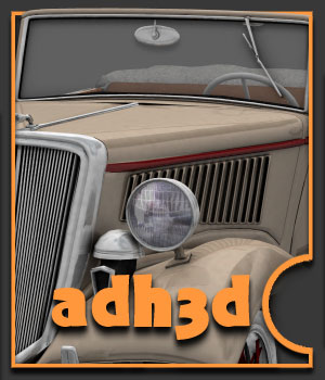 1934 Ford 40 - Extended License 3D Models Gaming Extended Licenses adh3d