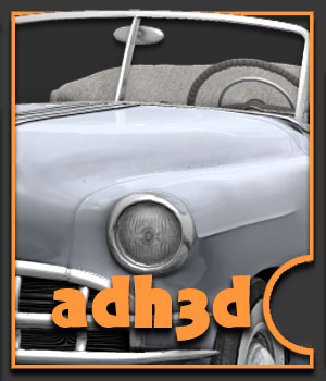 1949 Pontiac Convertible - Extended License 3D Models Gaming Extended Licenses adh3d