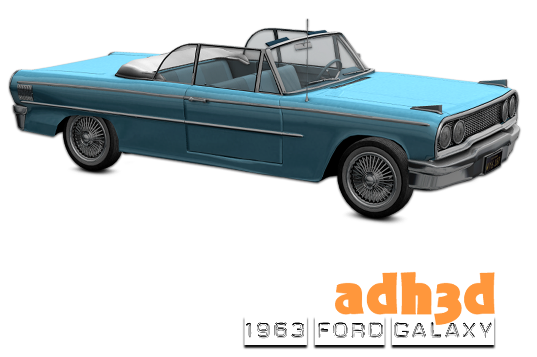 1963 Ford Galaxy - Extended License