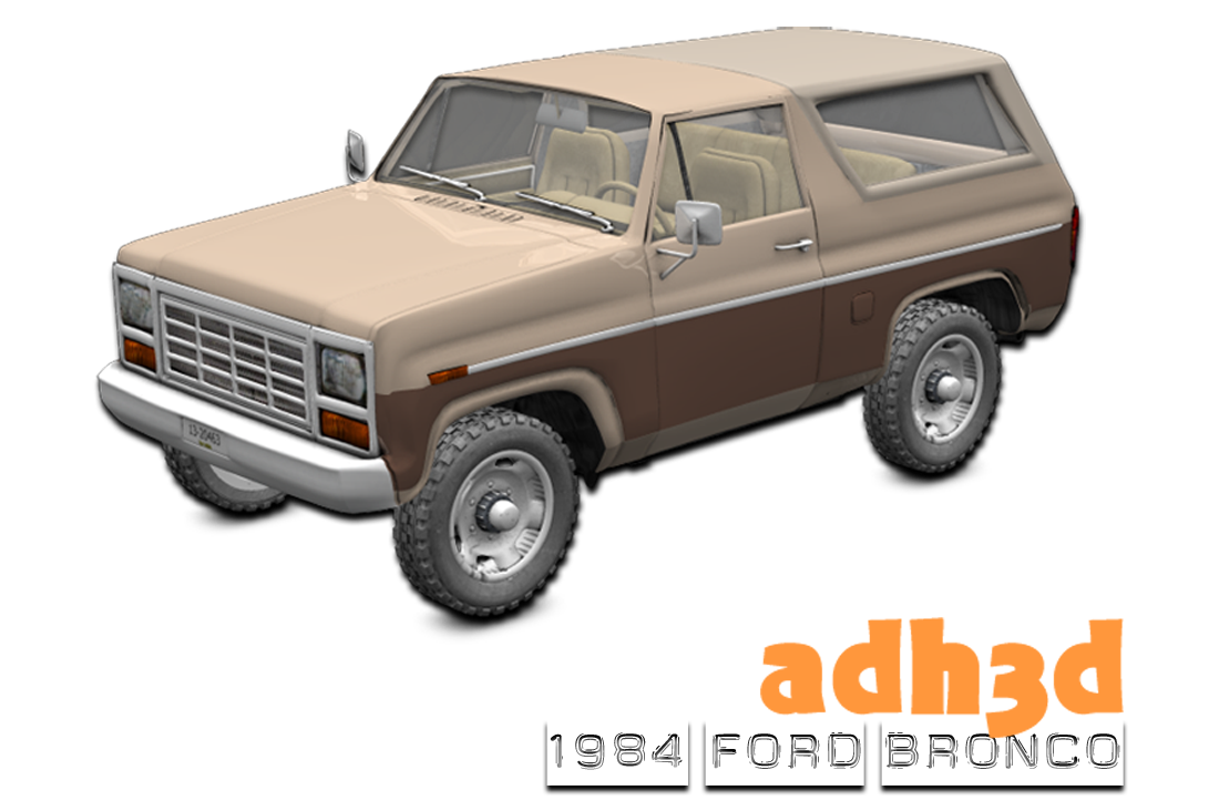 1984 Ford Bronco - Extended License