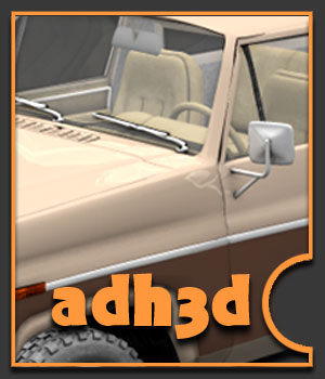 1984 Ford Bronco - Extended License 3D Models Gaming Extended Licenses adh3d