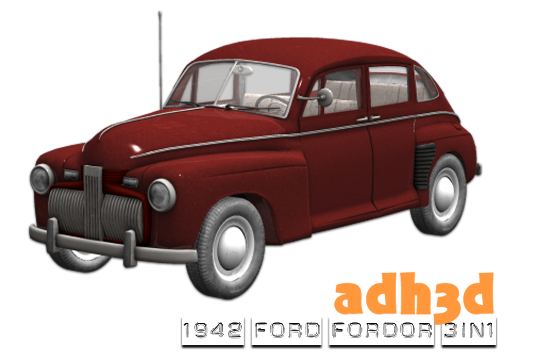 1942 Ford Fordor 3 in 1 - Extended License by adh3d