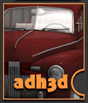 1942 Ford Fordor 3 in 1 - Extended License 3D Models Gaming Extended Licenses adh3d